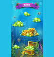 atlantis ruins - mobile format the jewels window vector image vector image