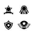 awards simple related icons vector image vector image