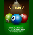 Billiard challenge poster 3d realistic balls on vector image