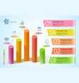 business graph template vector image vector image