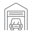 car garage thin line icon automobile and home vector image vector image