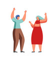 celebration party couple flat isolated vector image