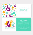 chemistry for kids banner template with space for vector image