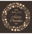 christmas brown background vector image vector image