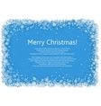 Christmas frame with snowflakes over blue vector image vector image