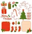 Christmas scrapbook elements vector image