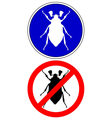 cockchafer traffic signs vector image vector image
