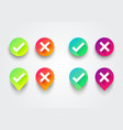 colorful check box list icons set vector image vector image
