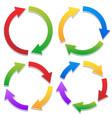 colorful circular arrows set with 2 3 4 5