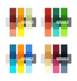 Colorful stripes infographic templates set