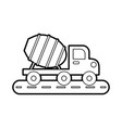 concrete mixer truck with special equipment vector image vector image