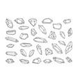 crystal hand drawn crystal vector image