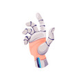 cyborg hand robot arm or artificial intelligence vector image
