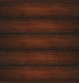 dark brown wooden planks texture vector image