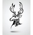 Deer head tattoo vector image vector image