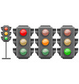 different colors of traffic lights vector image vector image