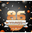 Eighty six years anniversary celebration vector image vector image