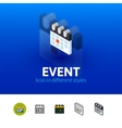 Event icon in different style vector image vector image