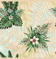 exotic flowers leaves seamless pattern vector image vector image