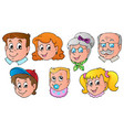 family faces theme image 1 vector image