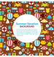 Flat Pattern Summer Vacation Background vector image