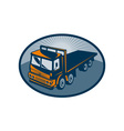 Flatbed truck viewed from a high angle vector image vector image