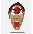 football fan from japan vector image vector image