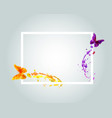 frame with watercolor butterflies vector image vector image