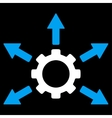 Gear Distribution Icon vector image