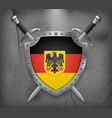 germany flag with coat of arms the shield with vector image vector image