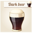 Glass of dark beer Detailed Icon vector image