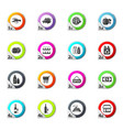 grocery store icons set vector image vector image