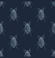 hand drawn seamless pattern with maybugs vector image