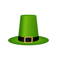hat cylinder on st patrick s day vector image vector image