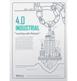 industrial 40 with robot concept robotic hand vector image vector image