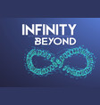 infinity symbol wireframe mesh background vector image vector image