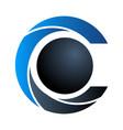 letter c modern logo template icon symbol blue vector image