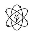 line energy hazard symbol of power industry with vector image