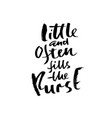 little and often fills the purse hand drawn vector image vector image