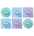 outlined icon right direction arrow vector image vector image