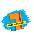 pair of books back to school concept image vector image