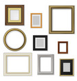picture and photo frames interior blank borders vector image