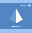 pyramid icon isometric template for web design vector image
