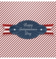 Realistic Graphic Element for Independence Day vector image vector image