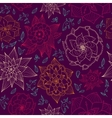 seamless floral wallpaper with hand drawn flowers vector image vector image