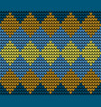 seamless golden squares knitting pattern vector image