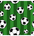 seamless pattern of soccer balls vector image vector image