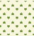 seamless pattern with marijuana leaf cannabis vector image vector image
