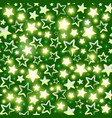 seamless pattern with shining stars on green vector image