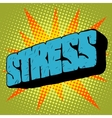 Stone word stress text vector image vector image